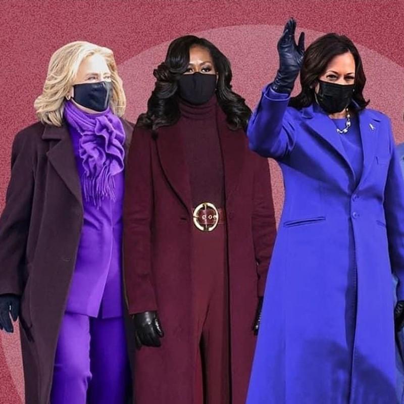 Κάμαλα Χάρις, Μισέλ Ομπάμα, Χίλαρι Κλίντον: Το μωβ πρωταγωνίστησε στις εμφανίσεις τους για έναν σημαντικό λόγο