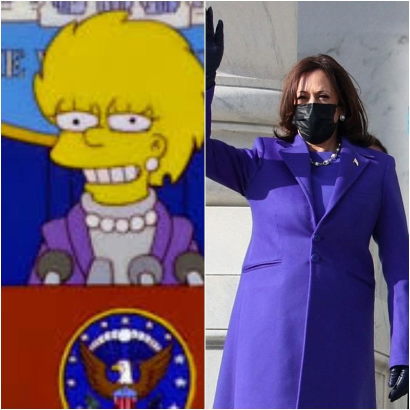 Όταν οι Simpsons προέβλεψαν τι θα φορούσε η Κάμαλα Χάρις στην ορκωμοσία της