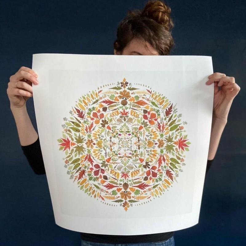 Χίλαρι Γουότερς: Η καλλιτέχνις που χρησιμοποιεί φύλλα και δημιουργεί χωρίς να επιβαρύνει το περιβάλλον